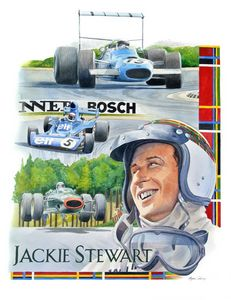 Jackie Stewart - Byron Chaney's Illustration and Design
