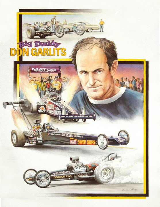 Don Garlits Portrait - Byron Chaney's Illustration and Design
