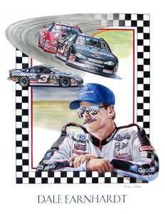 Dale Earnhardt portrait - Byron Chaney's Illustration and Design
