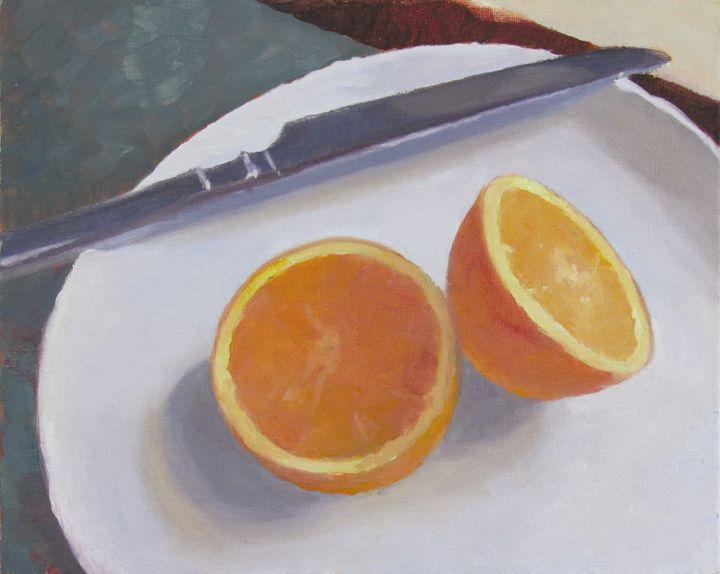 Orange & knife - Mark D Shark