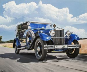 Blue Skoda 860 1932 by Yusuf Khan