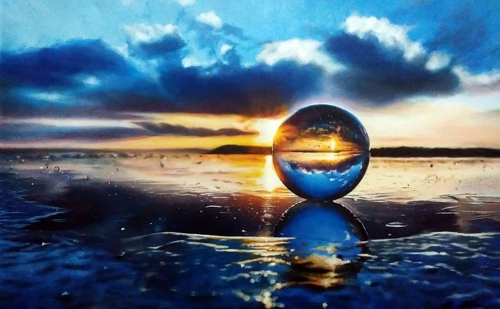 Marble On The Beach by Yusuf Khan - Yusuf Khan Artist