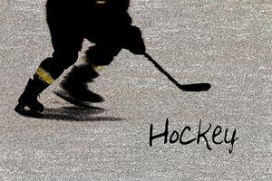 Hockey Shadow - Karol Livote Photography