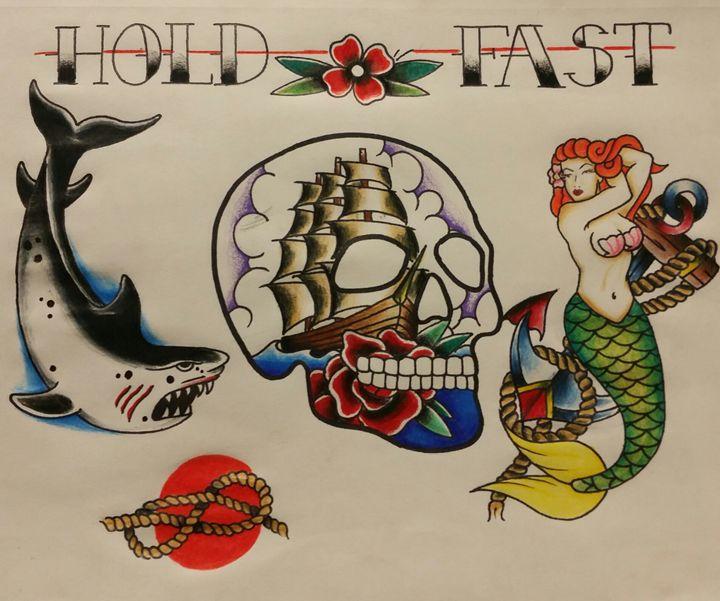 American traditional tattoo flash - comic and cartoon