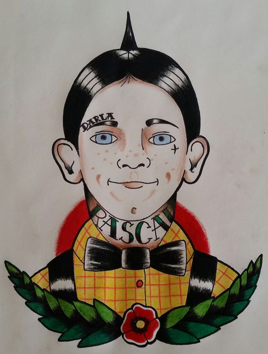 Tattooed alfalfa - comic and cartoon
