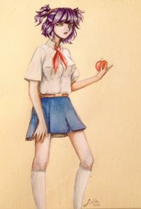 Lena with Apple