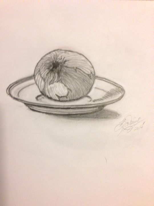 Onion on saucer - Devine artwork