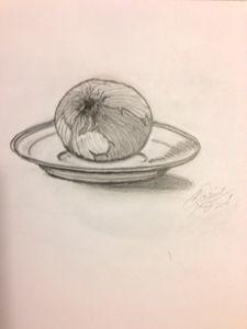 Onion on saucer
