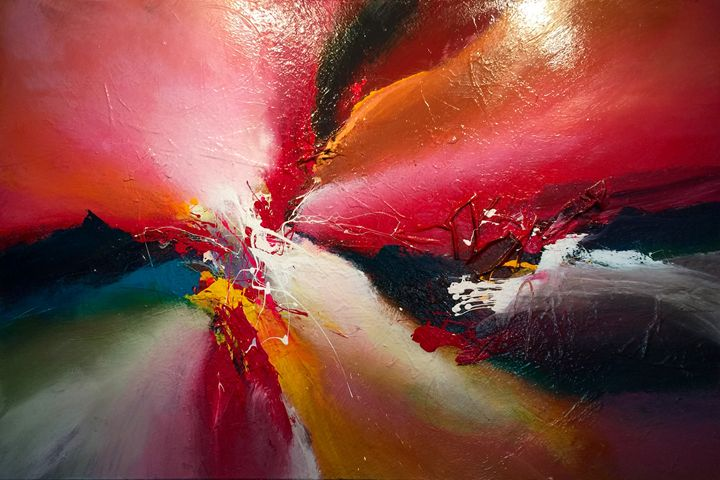Experience the unexperienced - Dan Bunea - Large living abstract paintings
