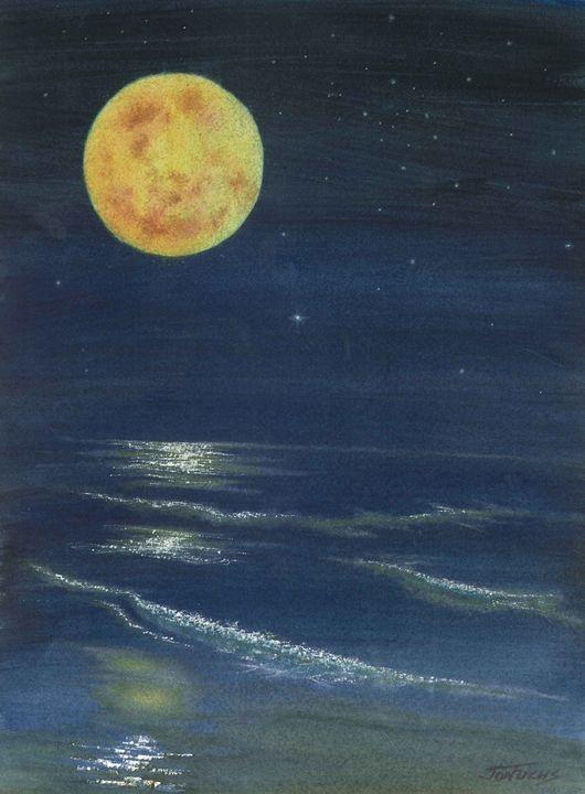 Night Beach - Jon Fuchs Art