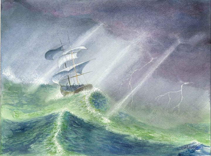 Calming the Storm (Be Still) - Jon Fuchs Art