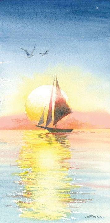 Sunset Sailing - Jon Fuchs Art