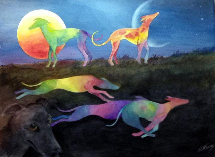 50 Shades of Greyhounds - Jon Fuchs Art