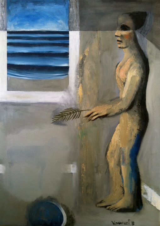 Woman by the window - Dan Vanderhoof Art