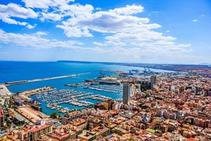Alicante panoramic view