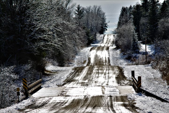 !st snow 13 1/4 St Barron County WI - Artistic Photos by Terry Baumgartner