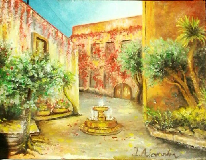 Oiriginal Oil Painting - Sunny road - MyArtBoutique