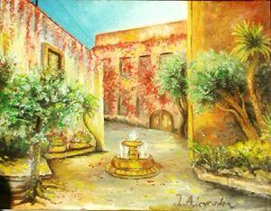Oiriginal Oil Painting - Sunny road