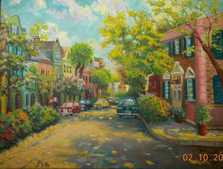A walk in the town - MyArtBoutique