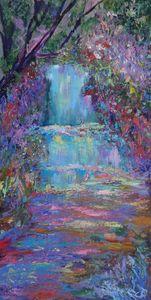 Zen Garden and Peaceful Waterfall