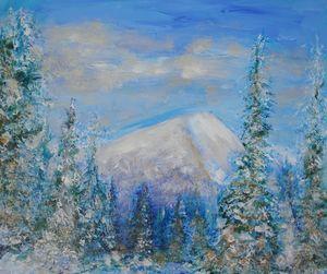 Winter Evergreen Mountains
