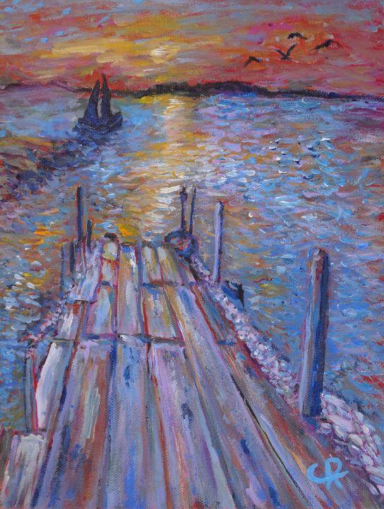 """""""Sunset Over The Ocean Pier"""" - Chris Rutledge"""