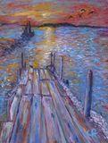 """Sunset Over The Ocean Pier"""