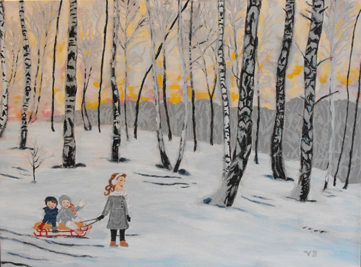 A walk in the woods - VB Paintings
