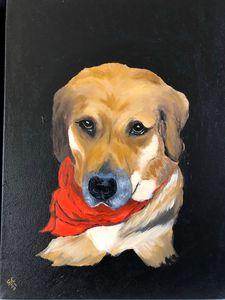 My pal 12x16 oil on canvas - SJOriginal Paintings