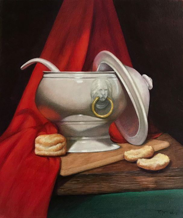 Biscuits and gravy - JakeHunterArt