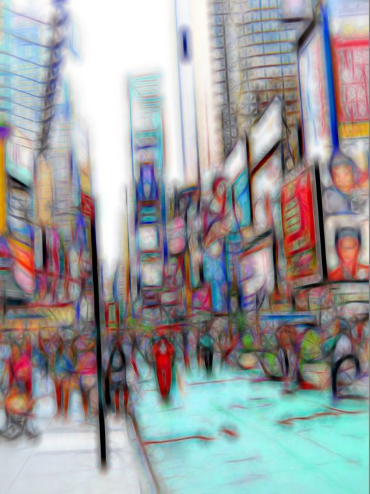 NYC Times Square William Kaluta Art - William Kaluta Art