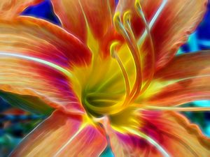 "Artwork Title ""Flower Closeup #325"""