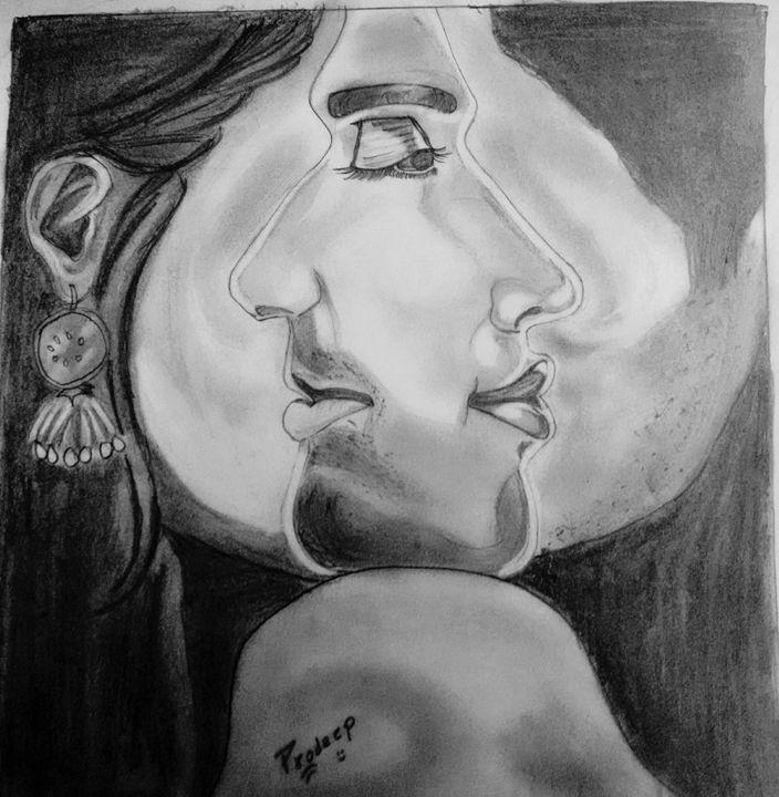 2 face art - Artist Pradeep