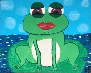 A frog waiting for a kiss