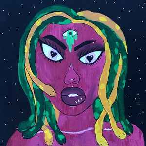 Medusa and her third eye (practice)
