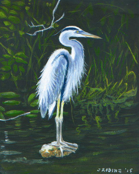 Blue Heron - J. Robin E Art