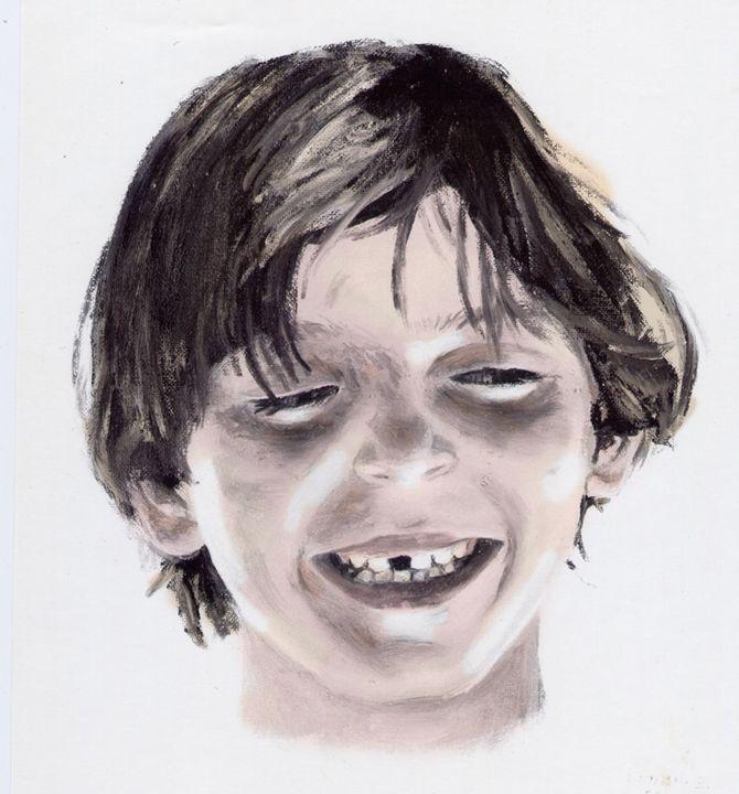 Boy Portrait commissioned portrait - J. Robin E Art