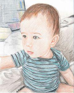 Emmett my grandson, portrait