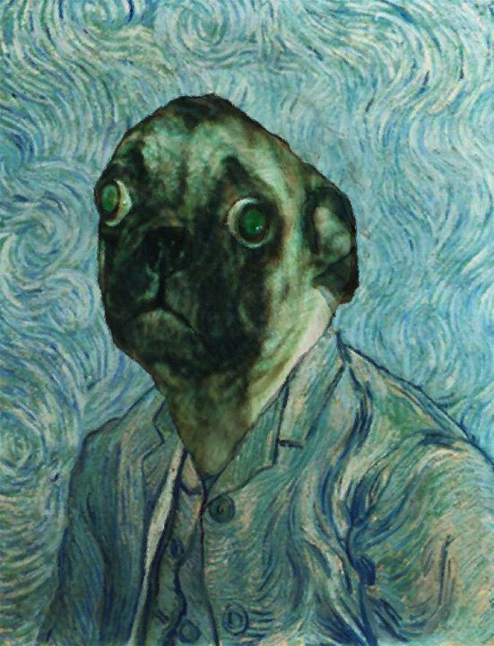 Self Portrait by Vincent van Pug - Kara English