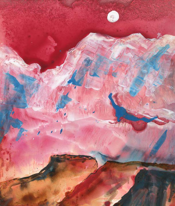 Red Mesa in Moon Light - Kara English