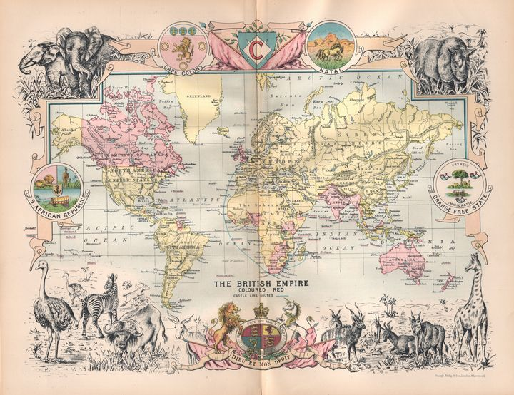 The British Empire - 1895 - Hipkiss' Scanned Old Maps