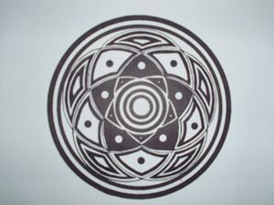5 circles in harmony drawing