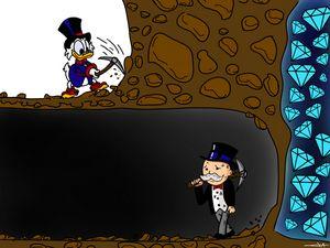 Monopoly and picsou mining