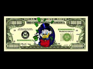 Picsou/Scrooge McDuck bill - Artsirsky