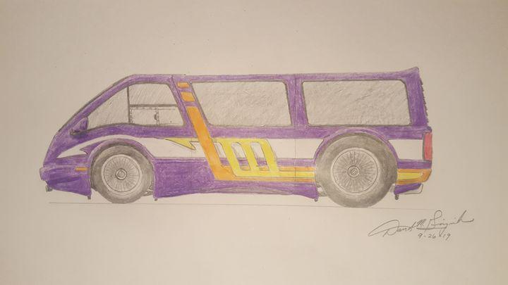 Hand Drawn Custom Van - DavidMG