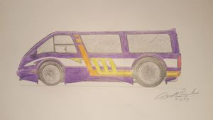 Hand Drawn Custom Van