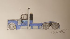 Custom Peterbilt Drawing
