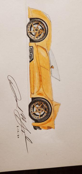 Concept car drawing - DavidMG