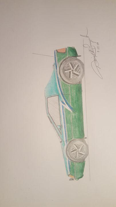 Sports Car Pencil Drawing - DavidMG