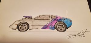 Drawing of Concept Car